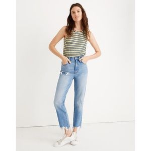 Madewell Classic Straight Jeans in Corrie Wash